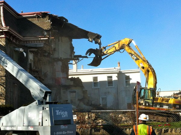 Demolition - Image courtesy Sam Fran Scavuzzo - Roxborough Manayunk Patch