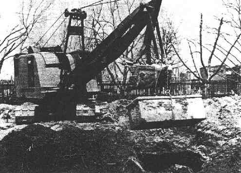 The exhumation of the Monument Cemetery graves