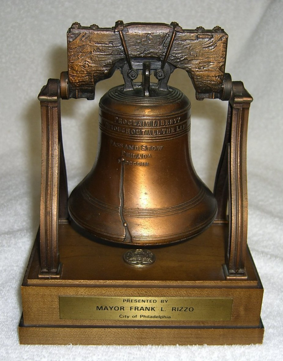 Liberty Bell presented to Valerie from Mayor Frank L. Rizzo - City of Philadelphia for best clairvoyant